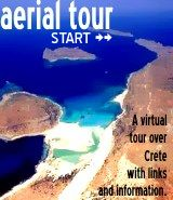 Enjoy a virtual tour over Crete with aerial photos and information